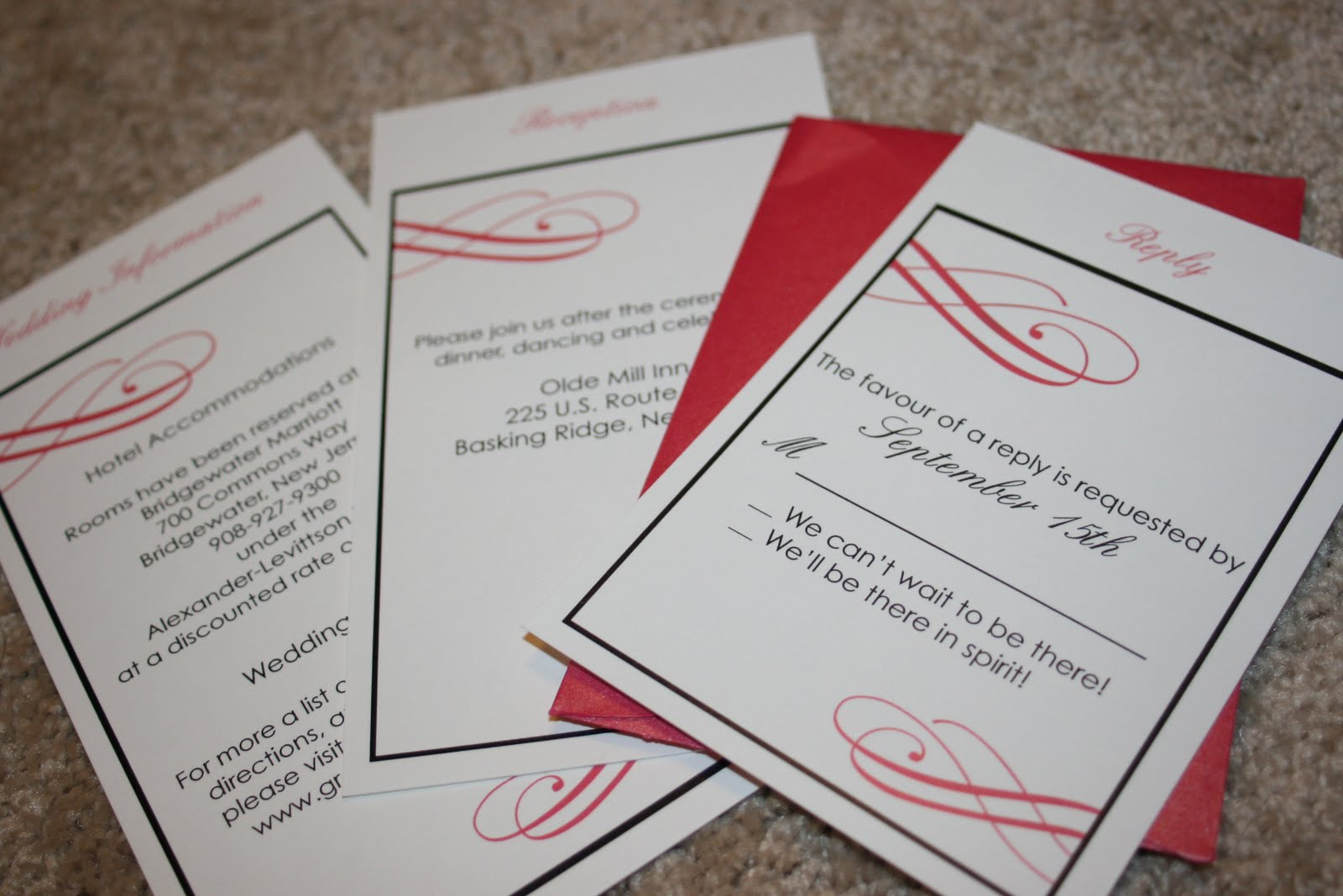 Pocket fold Invitations | Kreative & Entertain Me Event Planning ...