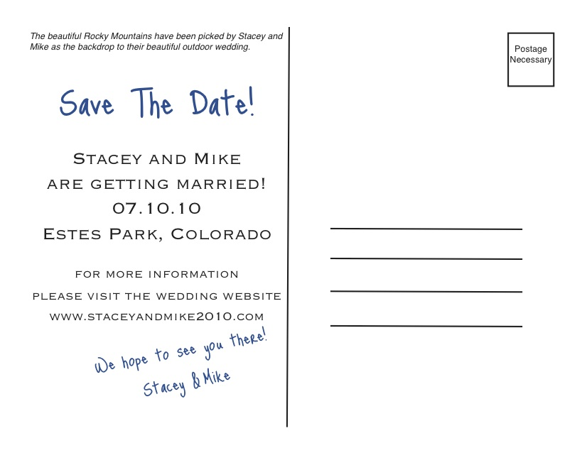 introducing save the date postcards kreative entertain me event